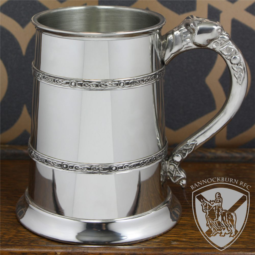 Club & Societies - 1 Pint Pewter Celtic Banded Engraved Tankard 1 Locksmith in Stirling