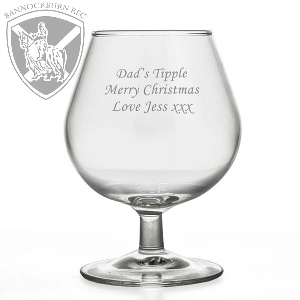 Clubs & Societies - Personalised Brandy Glass Tumbler 250ml 1 Locksmith in Stirling
