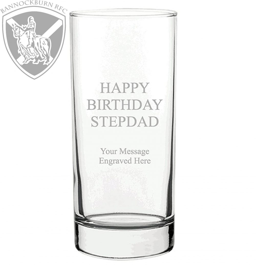 Clubs & Societies - Tall Personalised Glass Tumbler 370ml 1 Locksmith in Stirling
