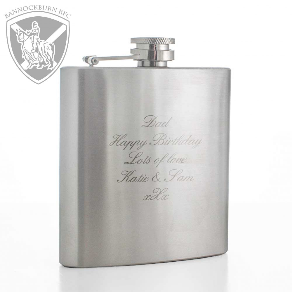 Clubs & Societies - 6oz Stainless Steel Personalised Hip Flasks 1 Locksmith in Stirling