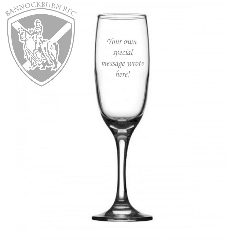 Clubs & Societies - 6.75oz Elegant Personalised Champagne Flute 1 Locksmith in Stirling