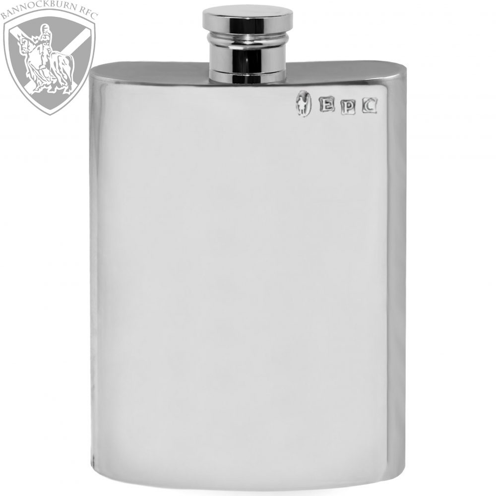 Clubs & Societies - 6oz Personalised Pewter Hip Flask 1 Locksmith in Stirling