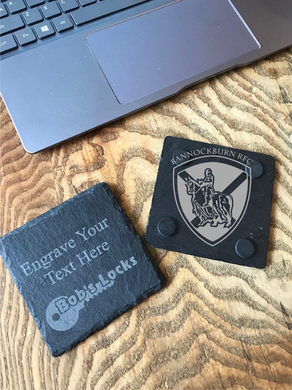 Clubs & Societies Personalised Slate Coaster 1 Locksmith in Stirling