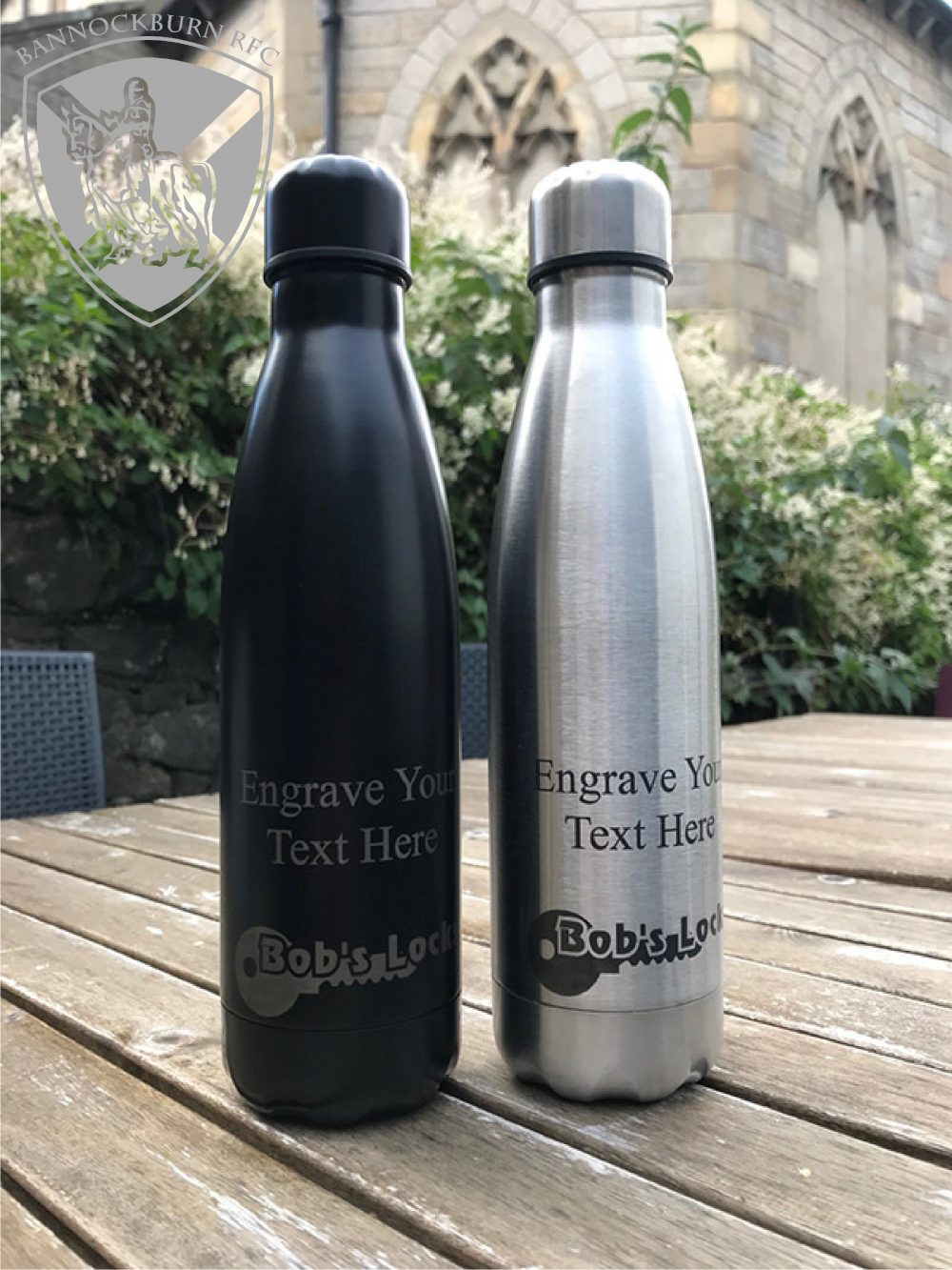 Clubs & Socieities - 500ml Thermal Personalised Water Bottle - 8 Colours 1 Locksmith in Stirling